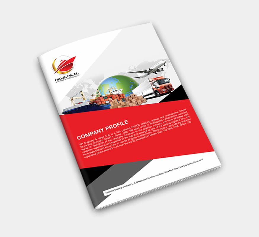 company corporate profile design by Kerala freelance designer