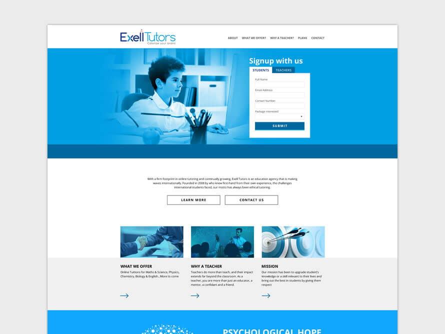 Freelance web designer for online tuition website