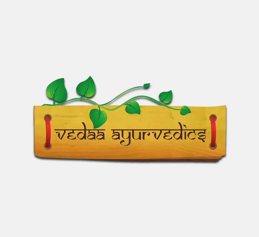 Kerala freelance logo design for Vedaa Ayurvedics, Dubai