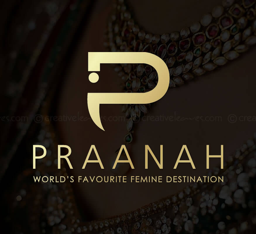 Praanah luxury fashion e-store logo by Kerala freelance logo designer