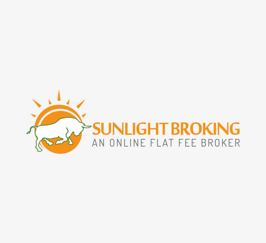 Sunlight Broking Logo design by Kerala freelance logo designer