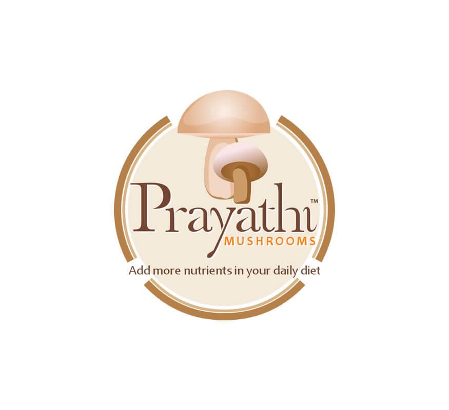 Kerala freelance logo designer for Prayathi Mushrooms
