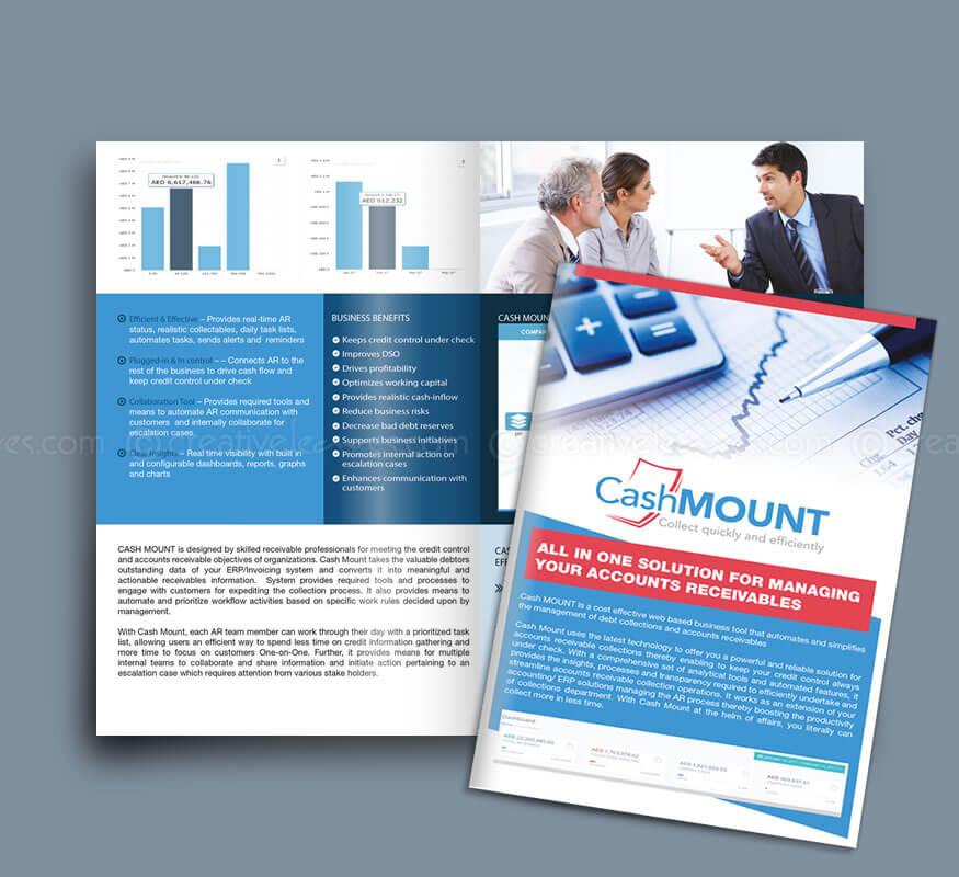 Kerala freelance brochure design for CashMOUNT