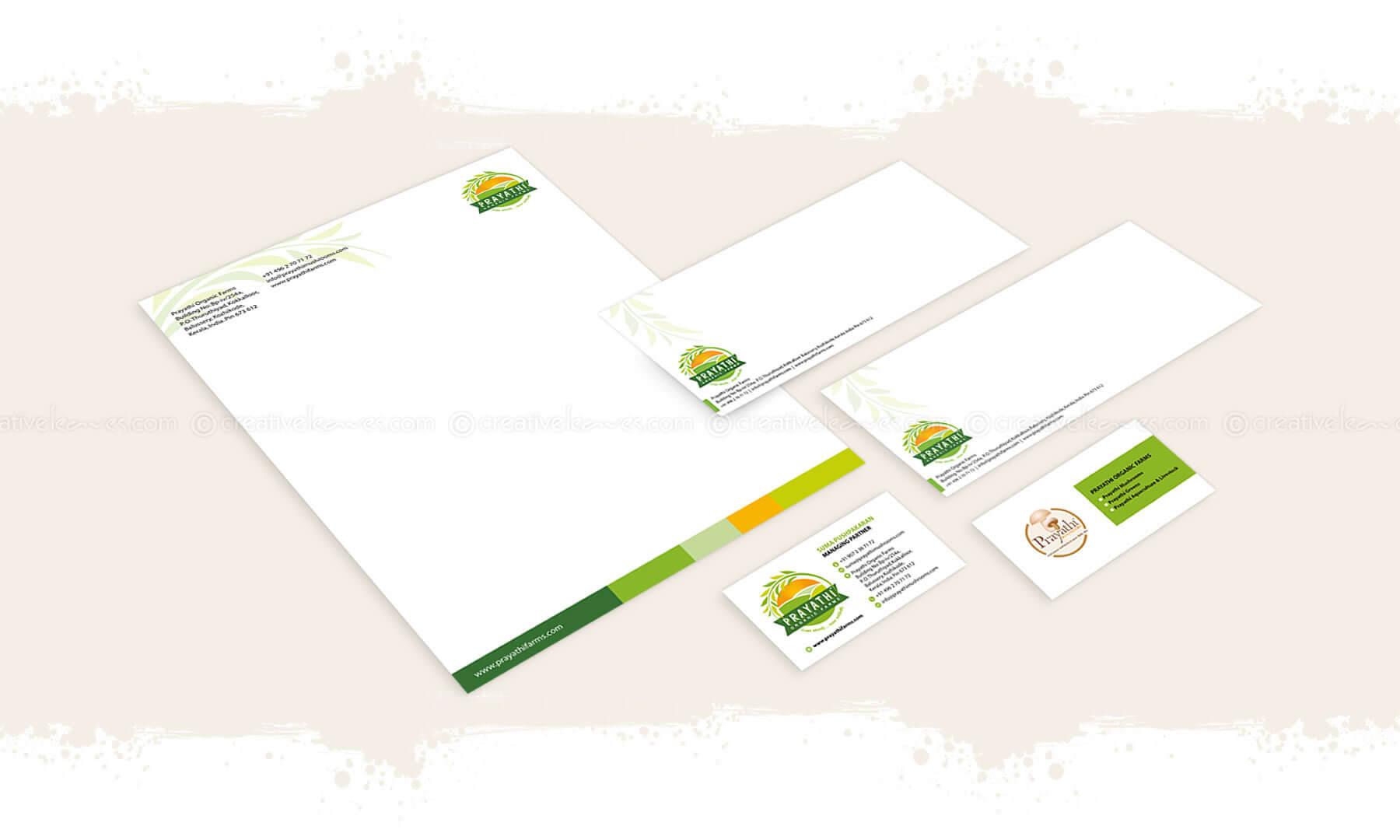 Kerala freelance branding designer for Prayathi Organic Farms