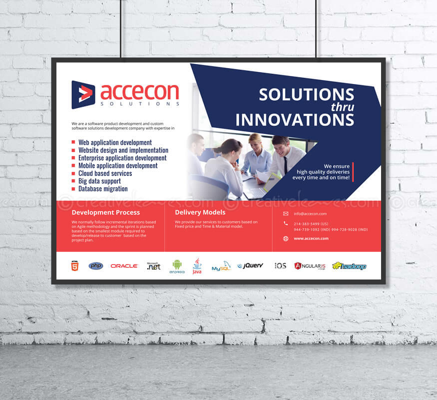 Kerala freelance branding designs for Accecon Solutions