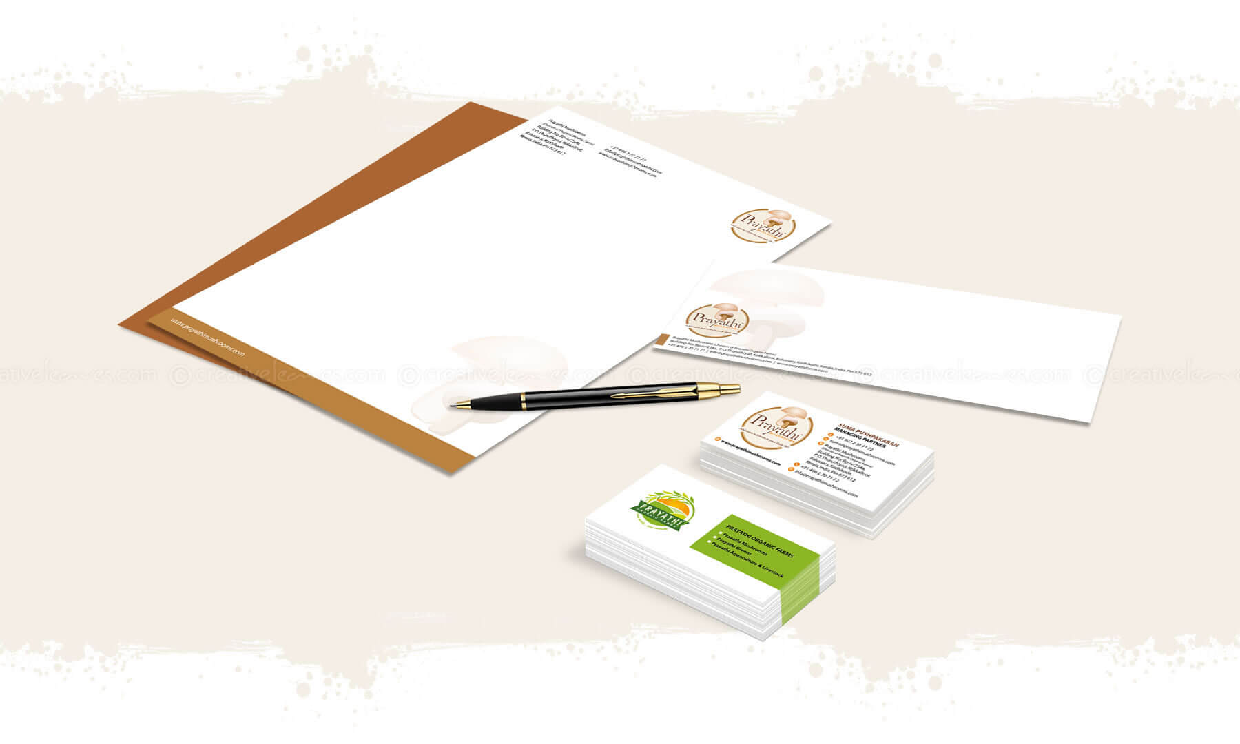 Kerala freelance branding designer for Prayathi Mushrooms