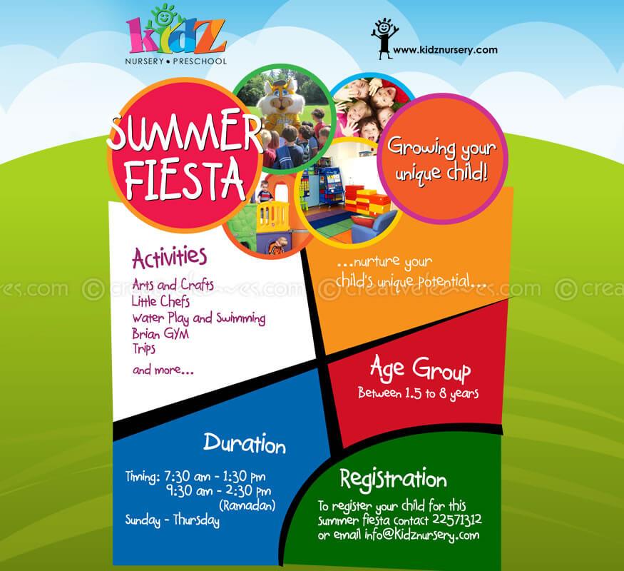 Kerala freelance flyer design for Nursery Preschool