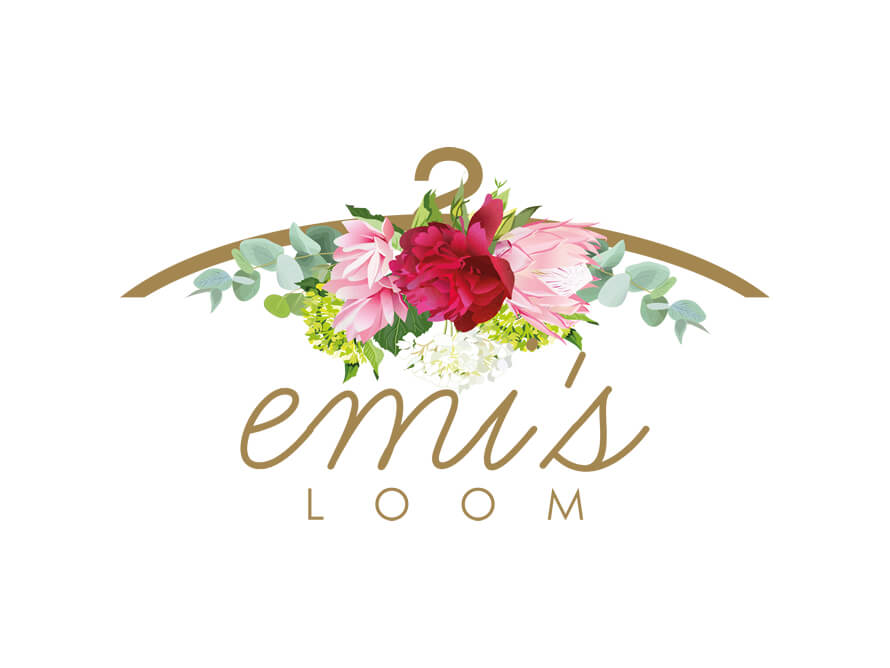 Kerala freelance logo design for online fashion boutique Emi's Loom