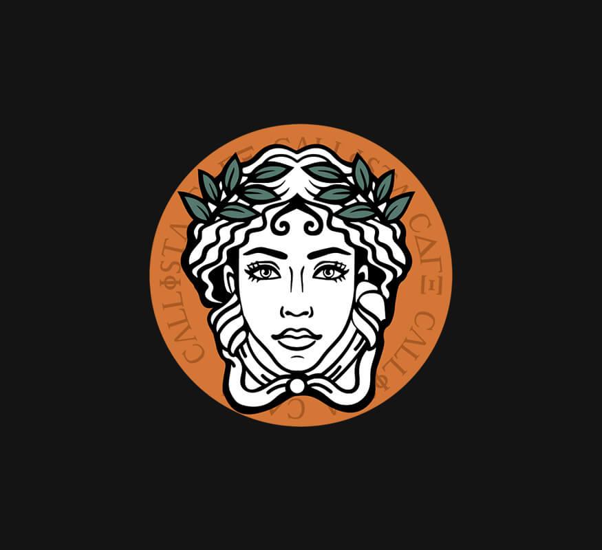 Kerala freelance logo design for Callista Cafe, Palakkad