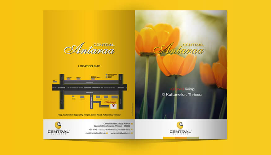 Freelance brochure designer Kerala
