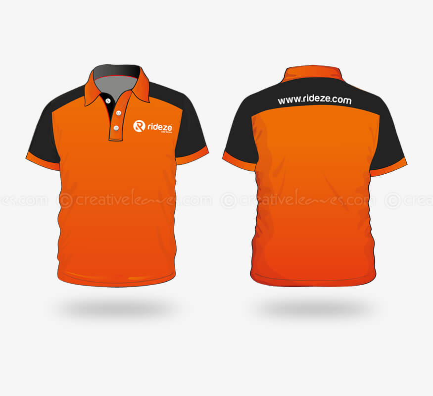 Kerala freelance corporate T-shirt design for Rideze Car Rental