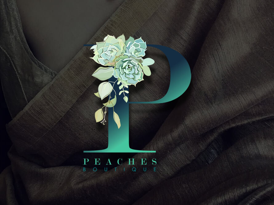 Kerala freelance Logo design for Peaches Boutique, Muscat