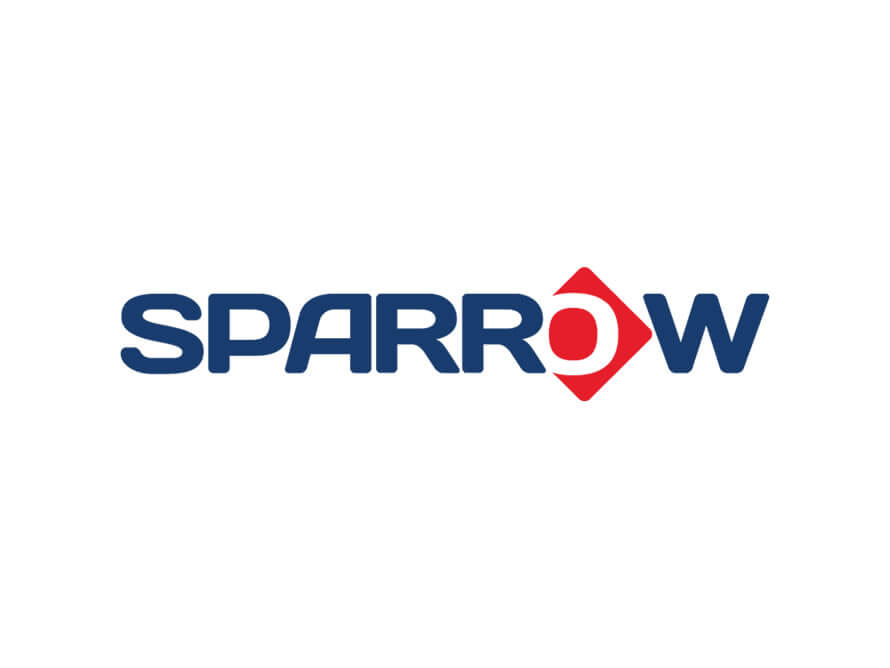 Sparrow International logo design by Kerala freelance logo designer