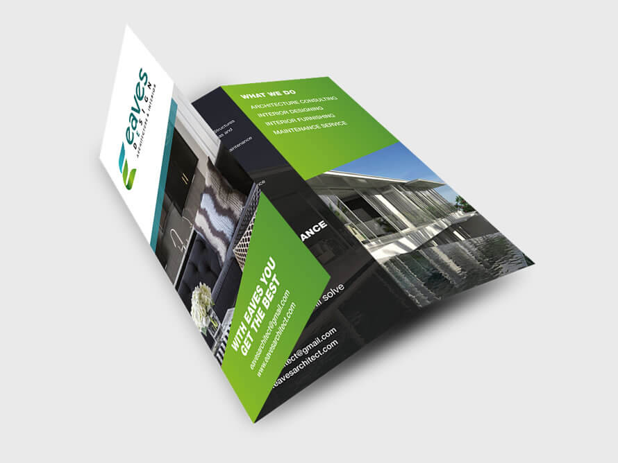 Tri-fold brochure design by Kerala freelance designer