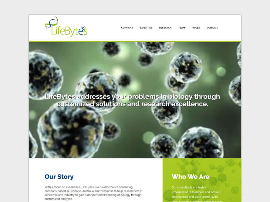 Kerala freelance web designer design for LifeBytes Australia