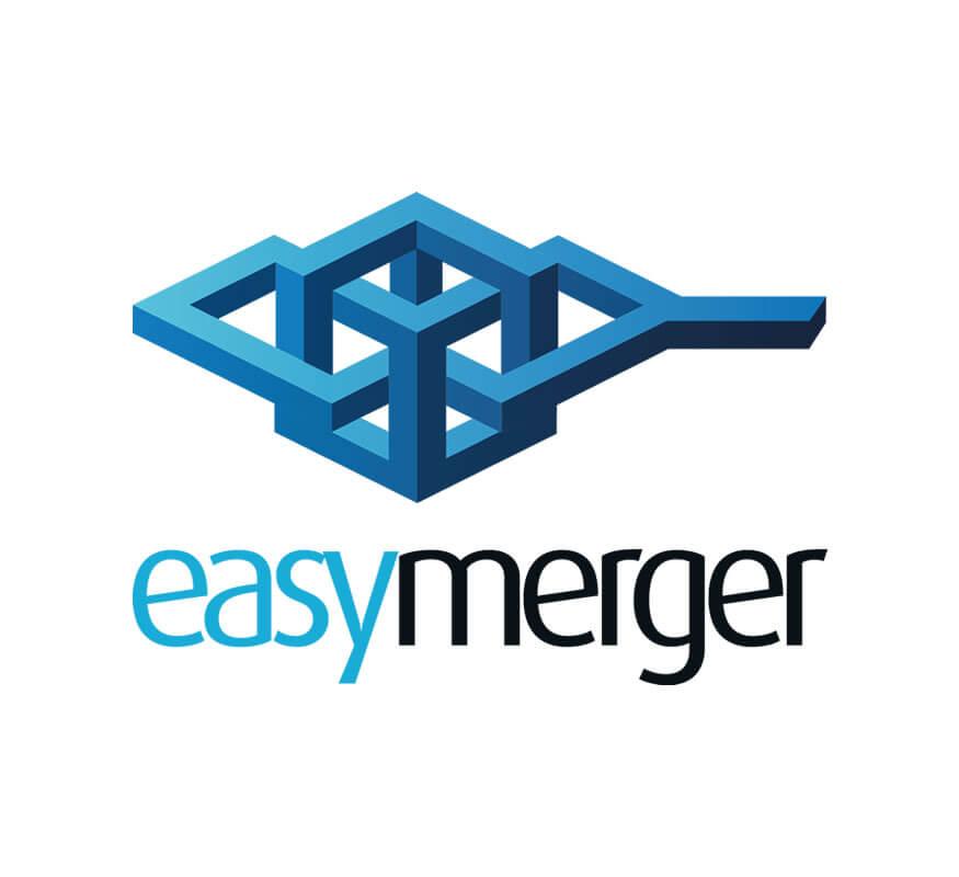 EasyMerger logo by Kerala freelance logo designer