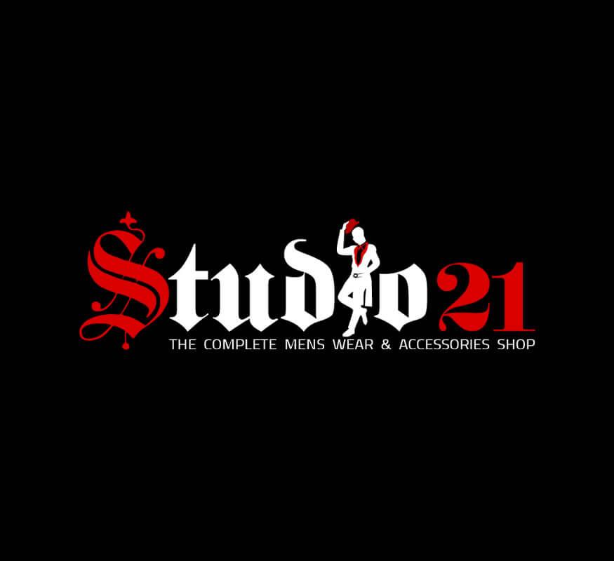 Studio 21 Mens Wear logo design by Kerala freelance logo designer