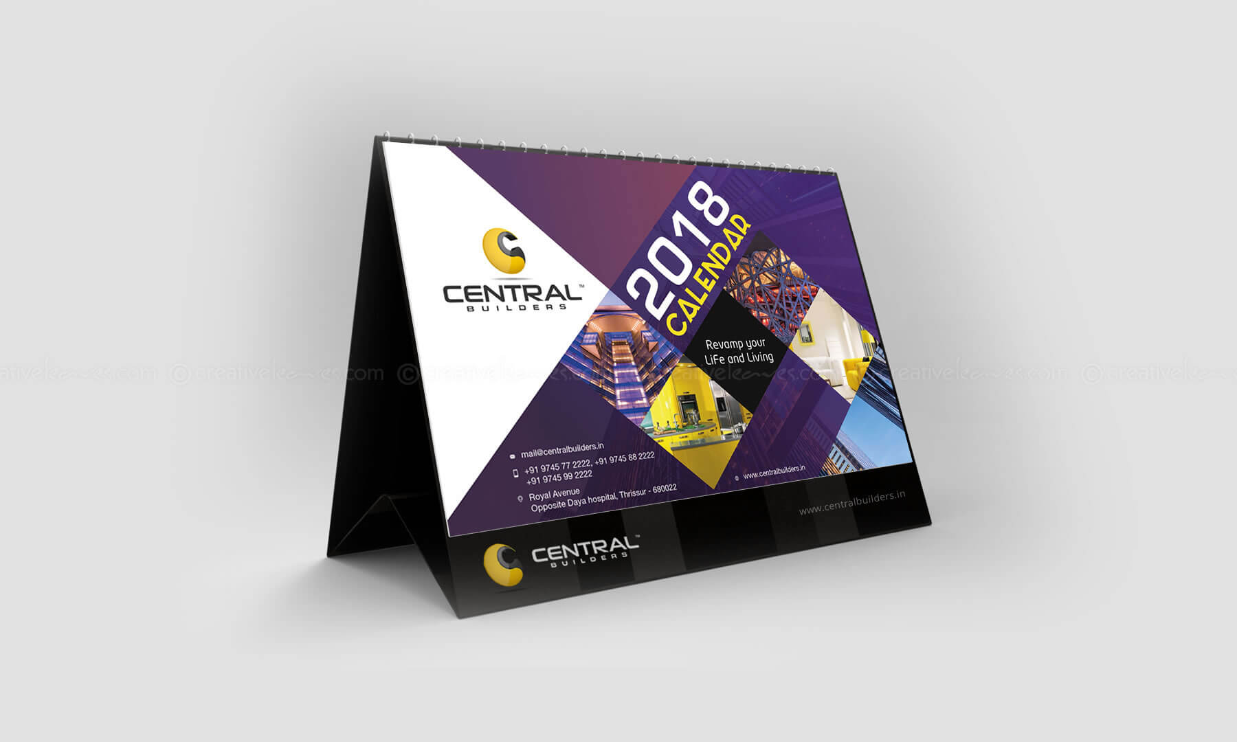Kerala freelance desktop calendar design for Central Builders