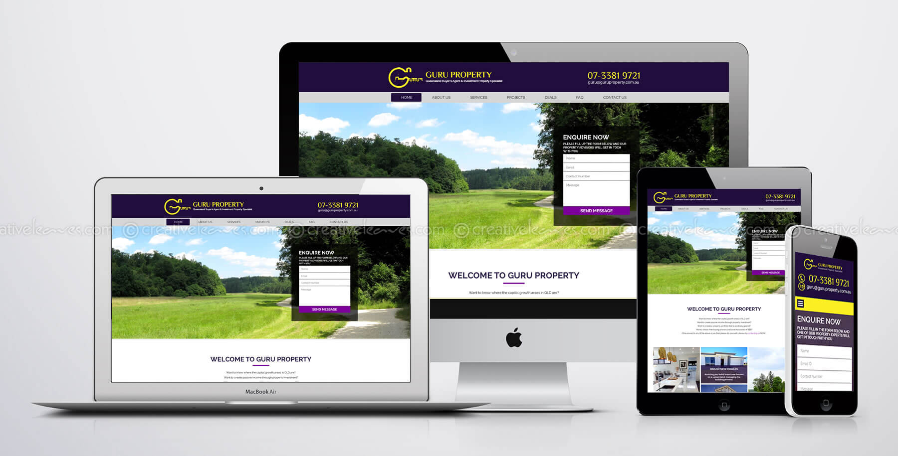 Responsive Wordpress property website by Kerala freelance web designer