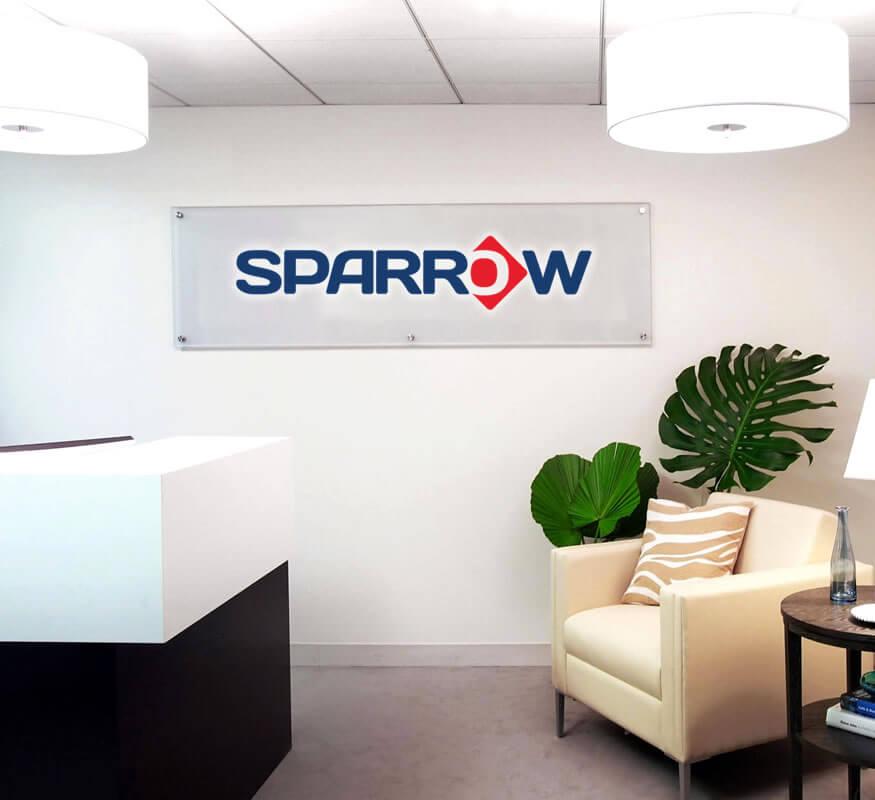 Sparrow International logo design by Kerala freelance logo designer