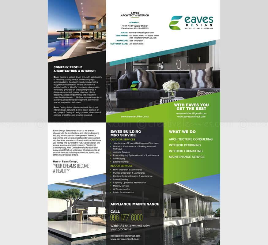 Kerala freelance tri-fold brochure design