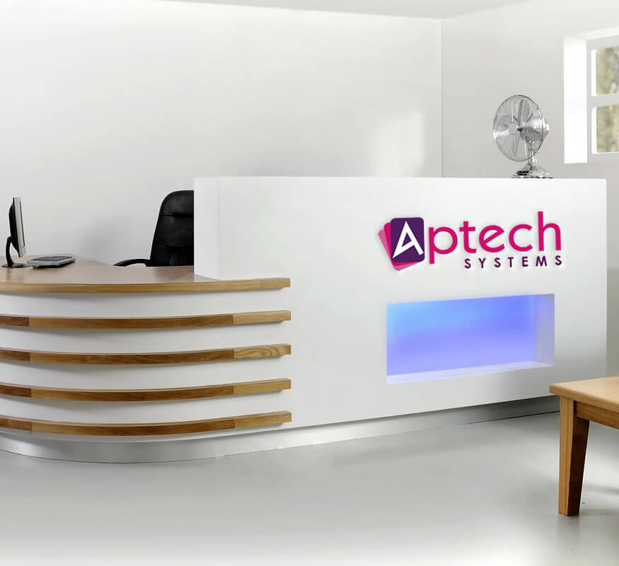 Kerala freelance logo for Aptech Systems Kochi