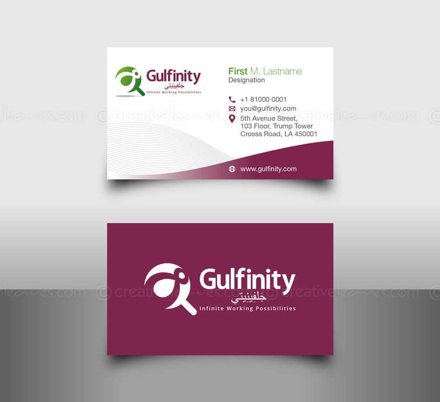 Kerala freelance branding design for Gulfinity, Qatar