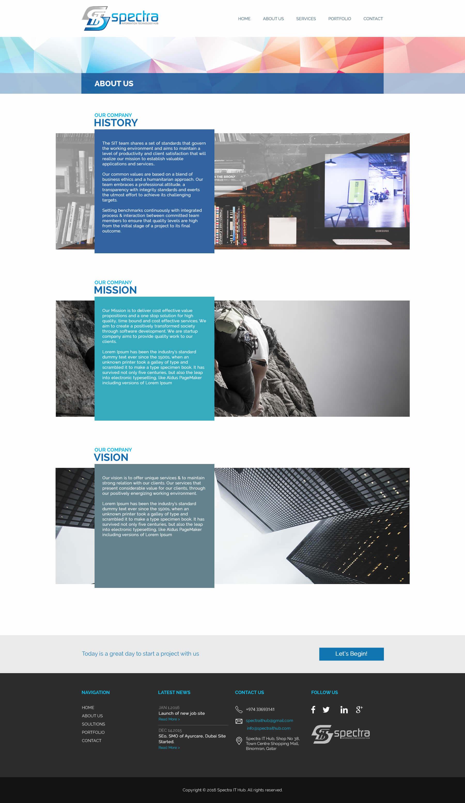 Kerala freelance web design design service for Qatar based IT company