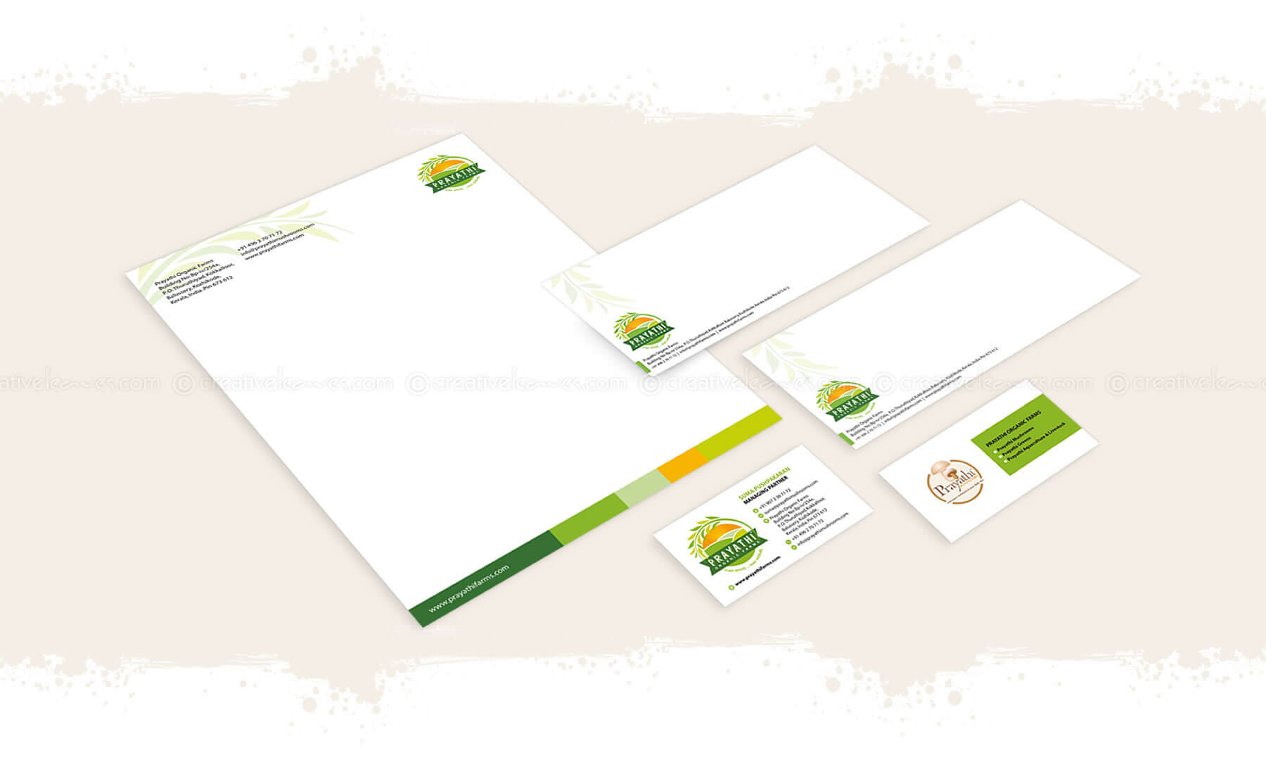 Kerala freelance branding designer for Prayathi Organic Farms