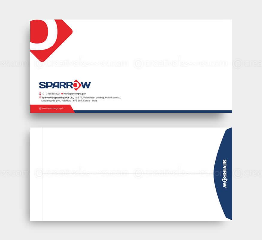 Sparrow International branding design by Kerala freelance logo designer