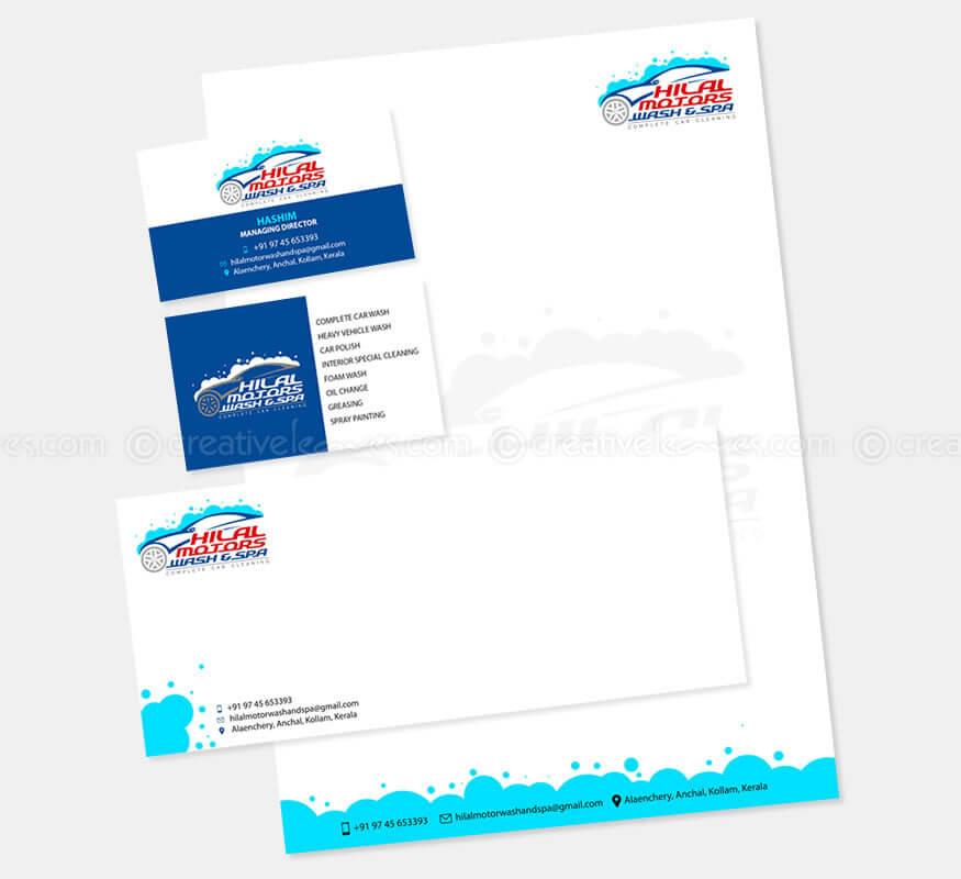 Kerala freelance logo design for Hilal Motors Wash & Spa