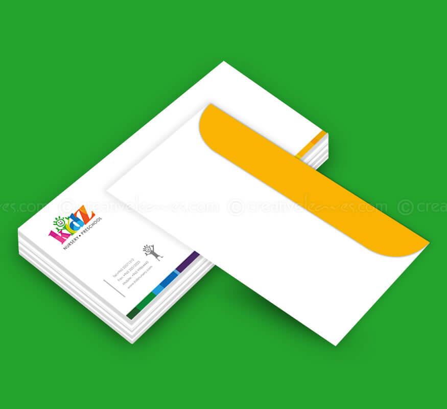 Kerala freelance envelope design for Nursery Preschool