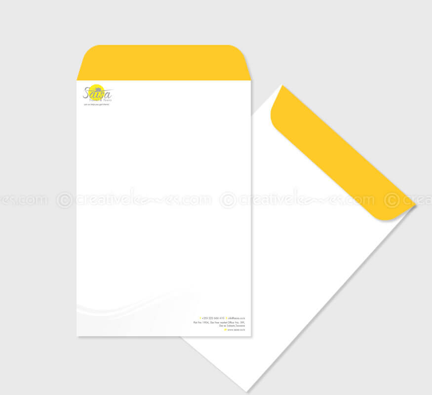 SAISA Travel Agency logo and branding design by Kerala freelance logo designer