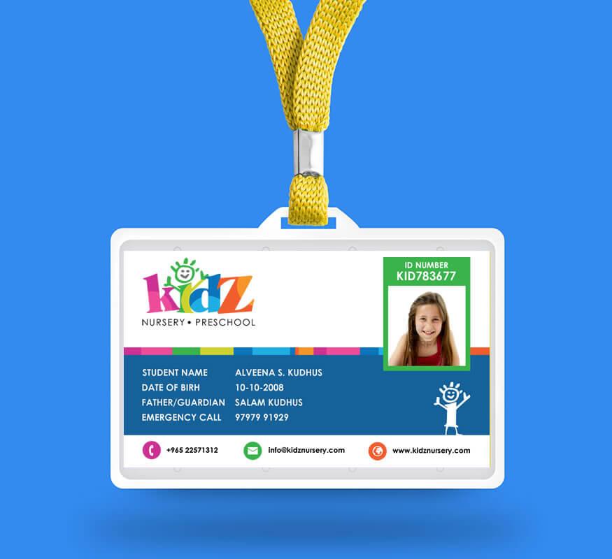 Kerala freelance ID card design for Nursery Preschool