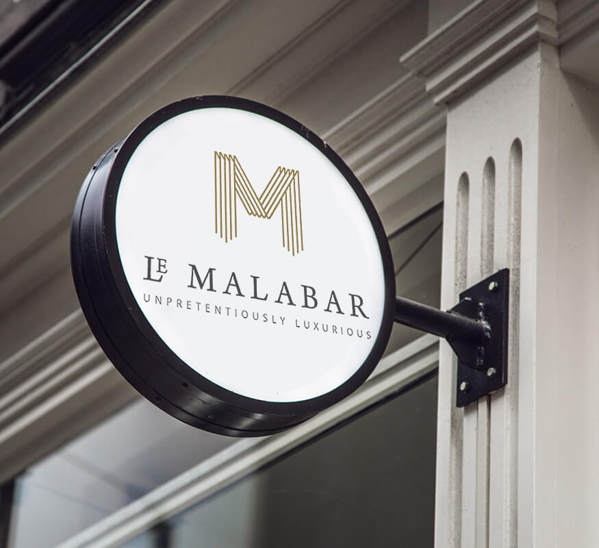Kerala freelance logo design for Le Malabar Hotel