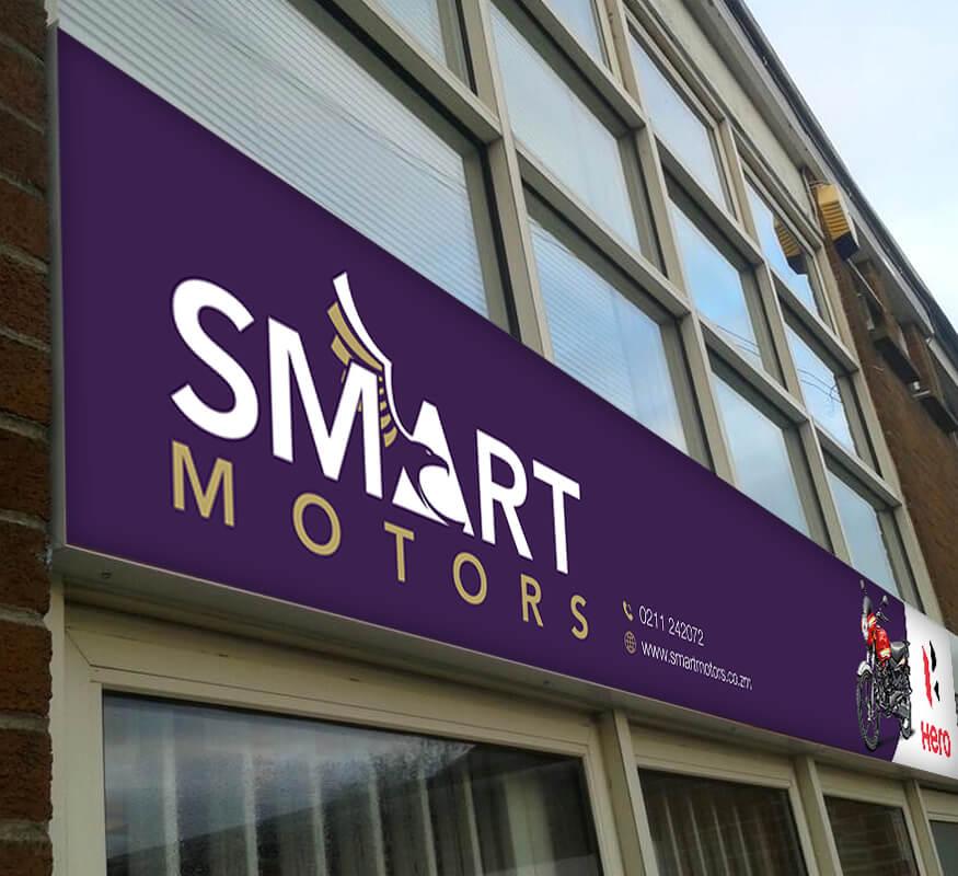 Kerala freelance signage design for Smart Motors Zambia