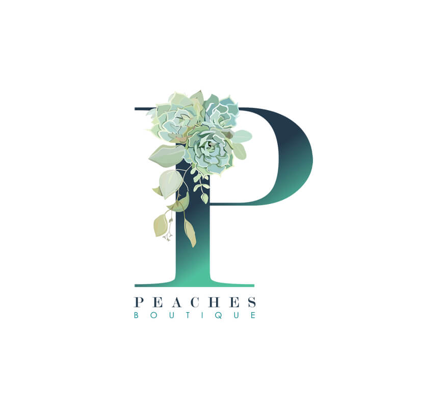 Kerala freelance logo design for Peaches Boutique Muscat