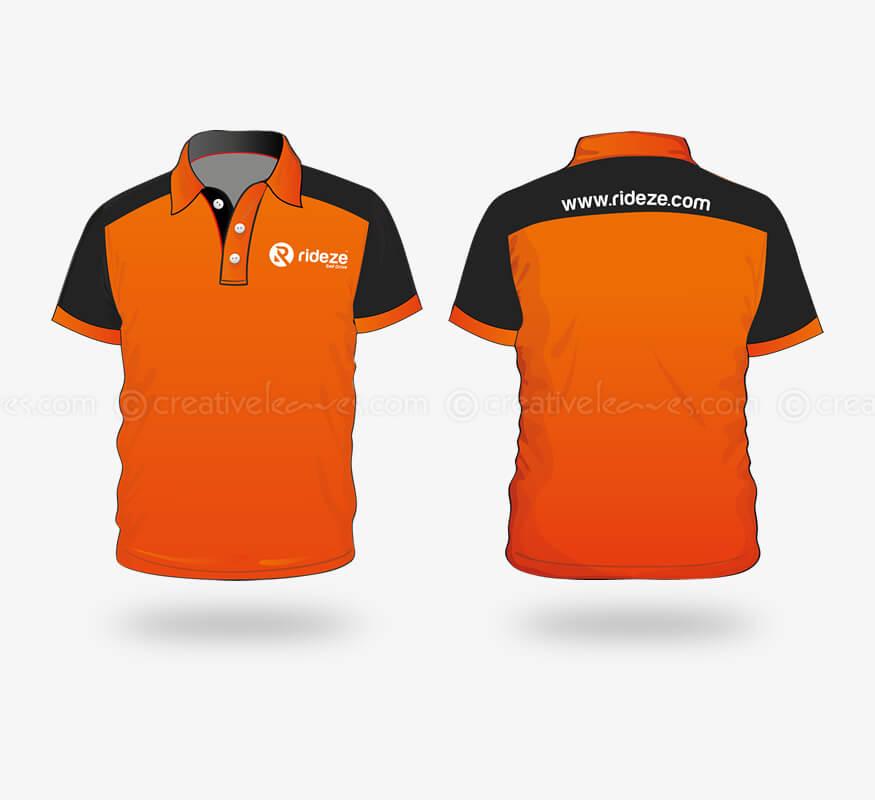 Kerala freelance corporate T-shirt design for Rideze Car Rental