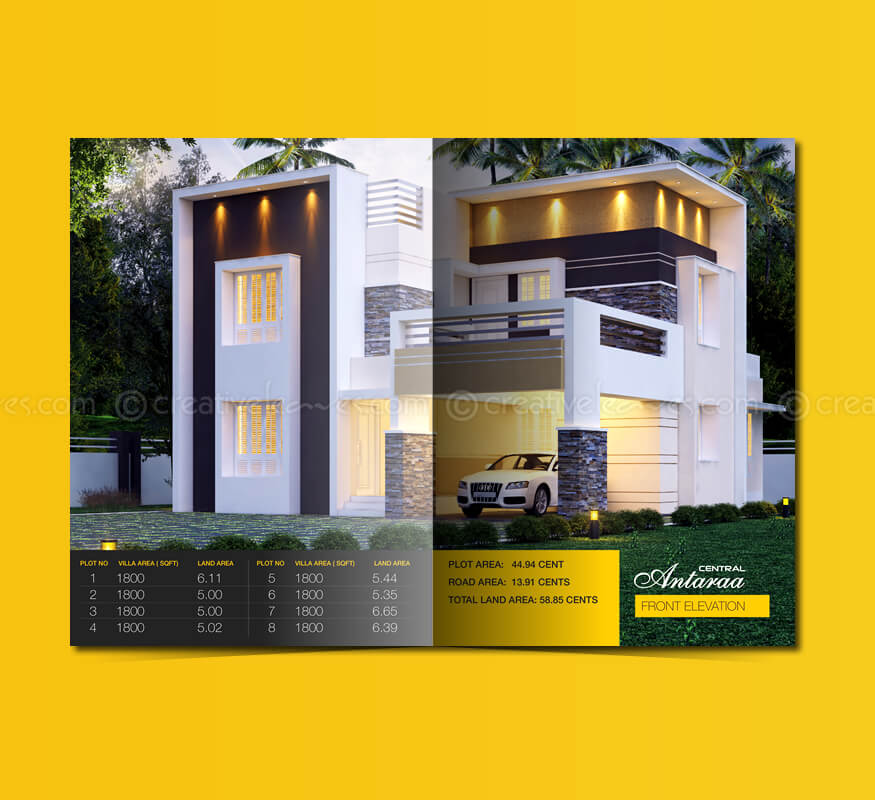 Kerala freelance brochure design for villa