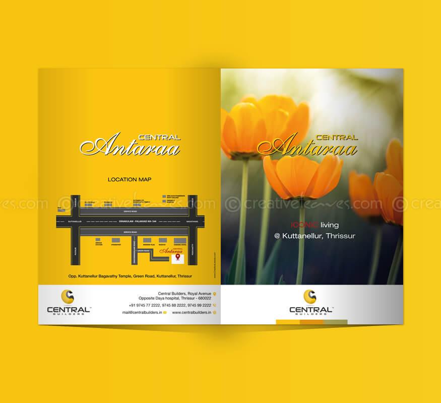 Kerala freelance brochure design for villa