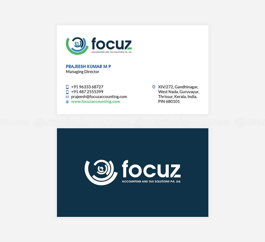 Freelance branding designs for Focuz Accounting & Tax Solutions (P) Ltd