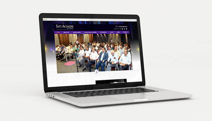 Kerala freelance WordPress website for Sati Achath