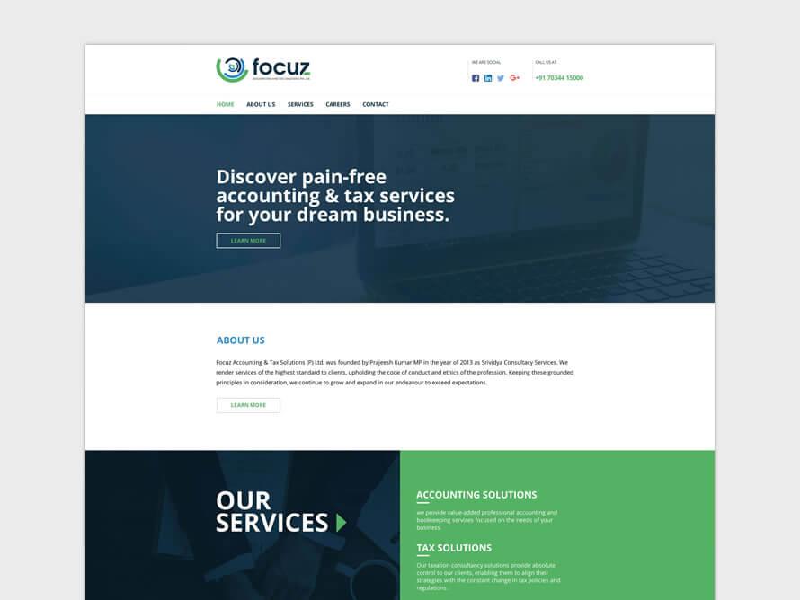 Kerala freelance Logo design, Branding, Website for Focuz Accounting & Tax Solutions (P) Ltd