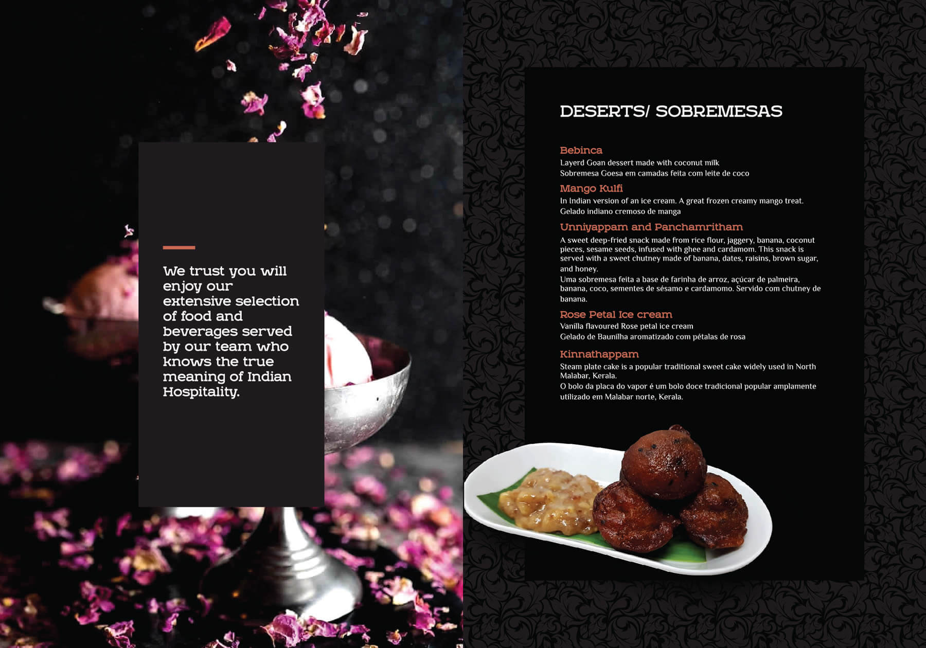 Kerala freelance restaurant menu design
